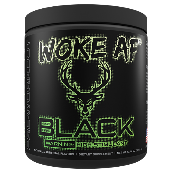 BLACK Woke AF High Stimulant Pre-Workout